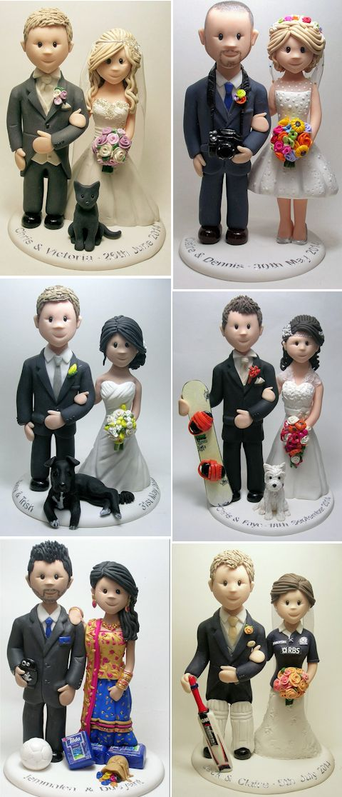 11CakeTopperFeatsofClay Top 10 Most Unique and Funny Wedding Cake Toppers 2017