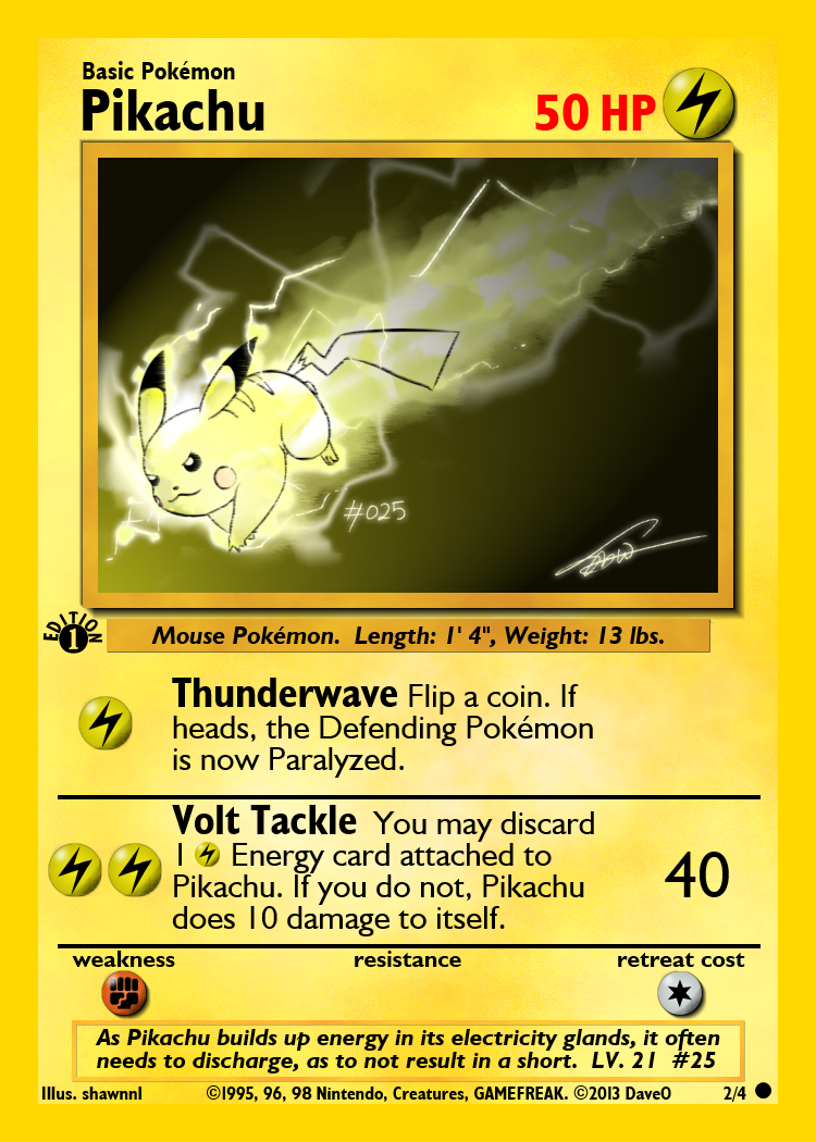 2_of_4_pikachu_custom_pokemon_card_by_iamthedaveo-d6i7lgj Top 10 World's Most Expensive Pokémon Cards 2018-2019