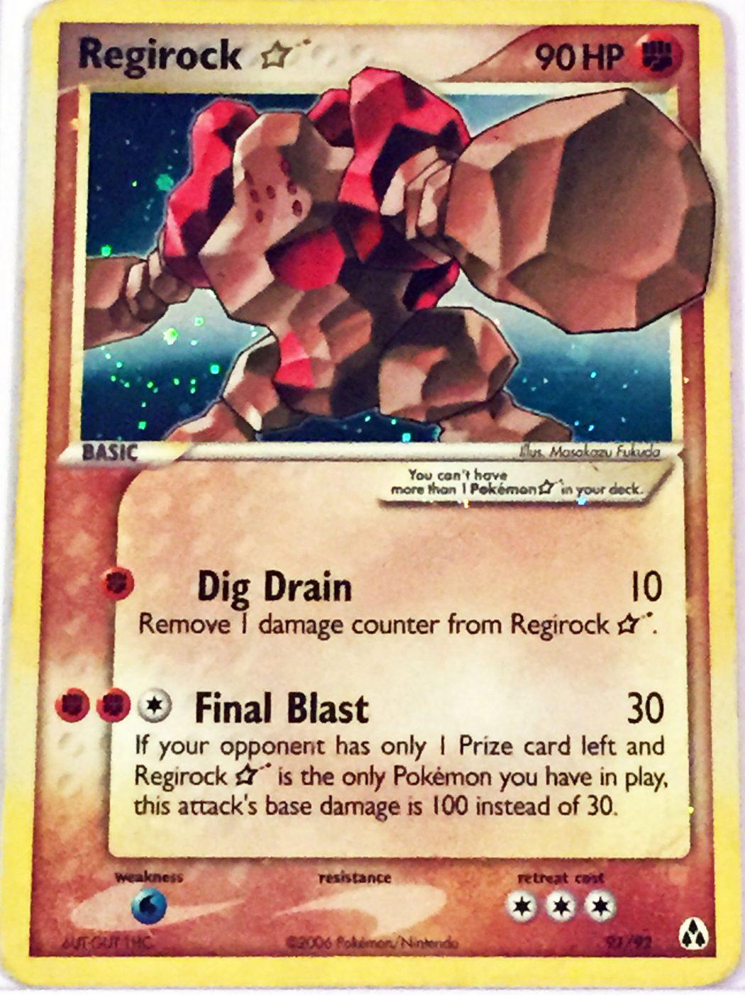 Regirock-Gold-Star-Legend-Makers-Set-Holo Top 10 World's Most Expensive Pokémon Cards 2018-2019