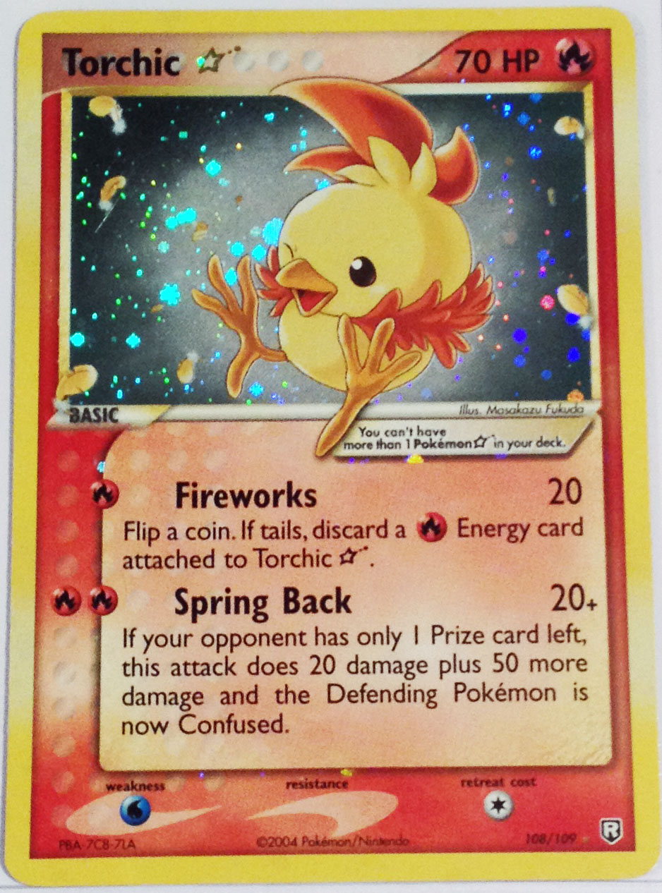 Torchic-Gold-Star-Team-Rocket-Returns-Set Top 10 World's Most Expensive Pokémon Cards 2018-2019