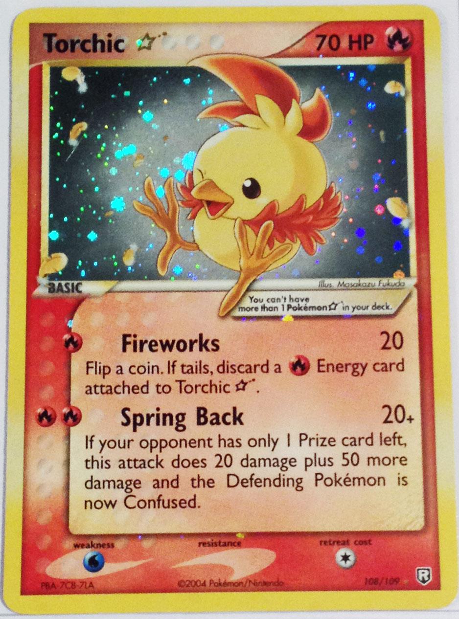 Torchic-Gold-Star-Team-Rocket-Returns-Set Top 10 World's Most Expensive Pokémon Cards 2018-2019