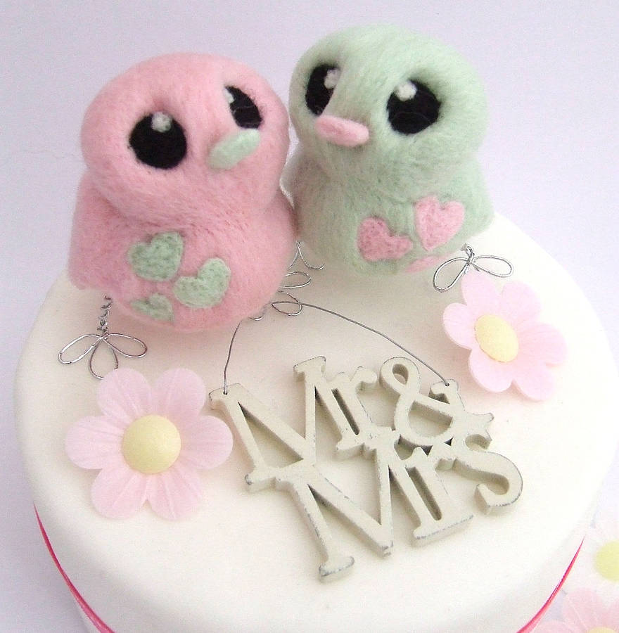 original_pastel-bird-wedding-cake-topper Top 10 Most Unique and Funny Wedding Cake Toppers 2017