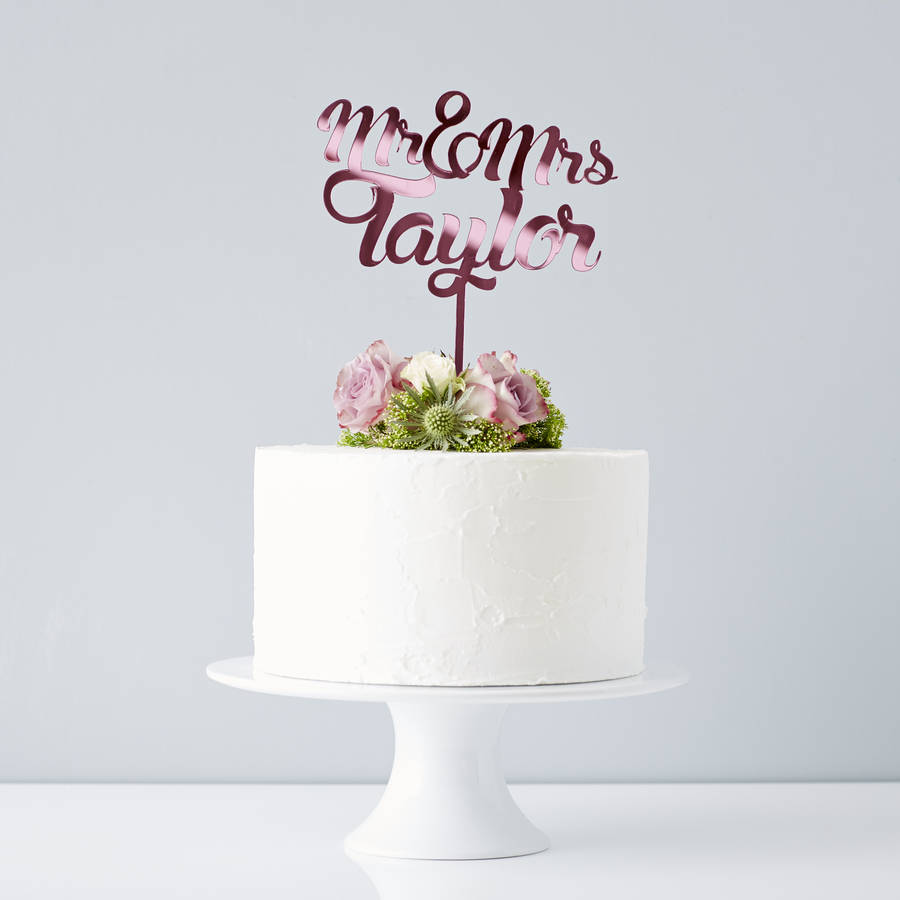 original_personalised-mr-and-mrs-wedding-cake-topper Top 10 Most Unique and Funny Wedding Cake Toppers 2019