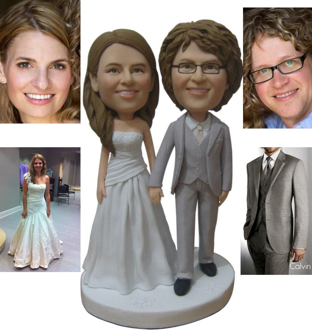 personalized-wedding-cake-topper-custom-made Top 10 Most Unique and Funny Wedding Cake Toppers 2019