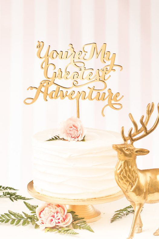 youre-my-greatest-adventure-statement-cake-toppers Top 10 Most Unique and Funny Wedding Cake Toppers 2017