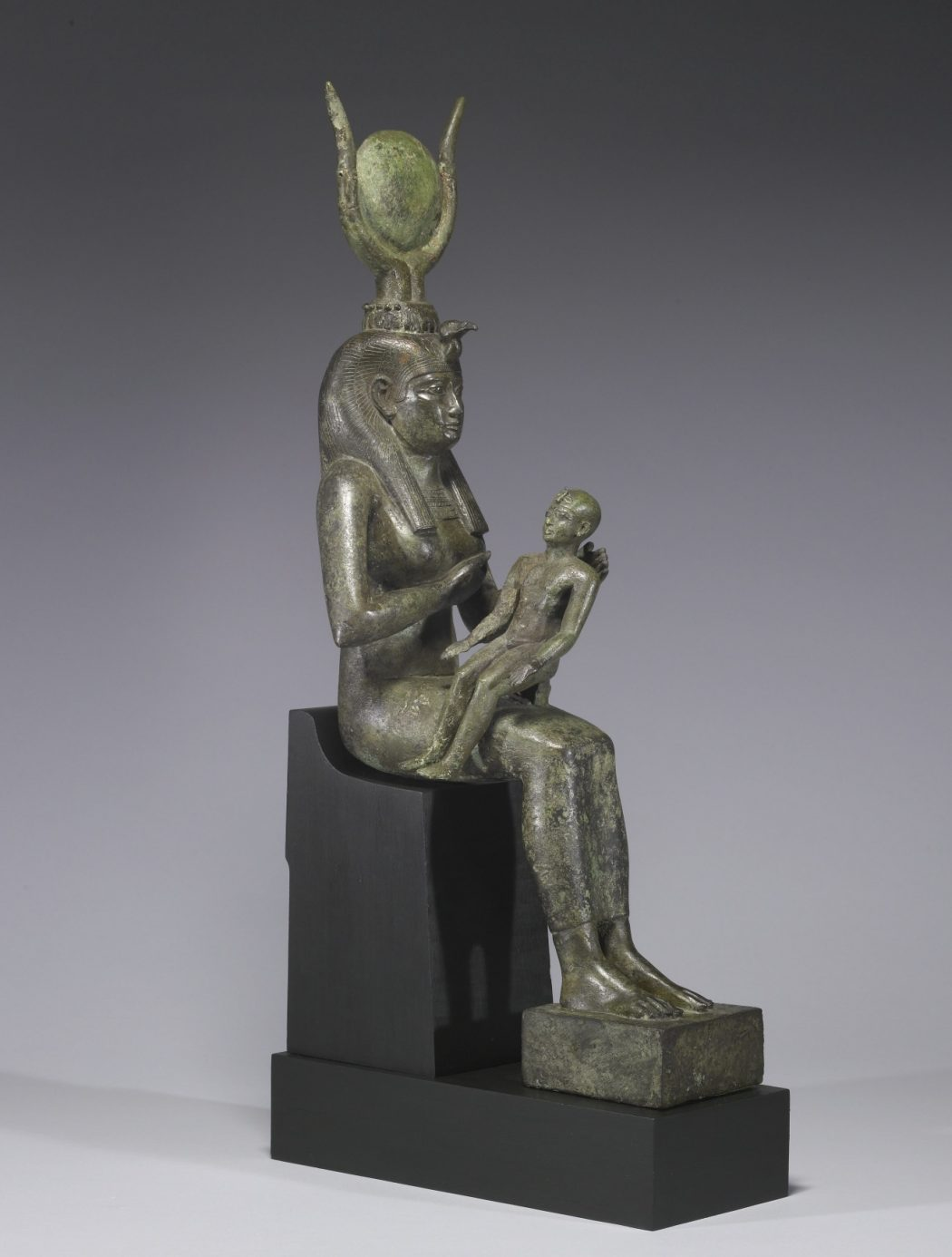 Egyptian_-_Isis_with_Horus_the_Child_-_Walters_54416_-_Three_Quarter_Right Top 10 Most Famous Ancient Egyptian Goddesses in the Pharaohs History