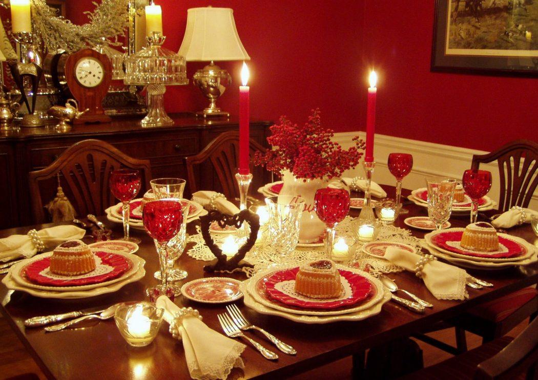 Romantic-Valentine-Tablescape Top 10 Ideas for the Valentine