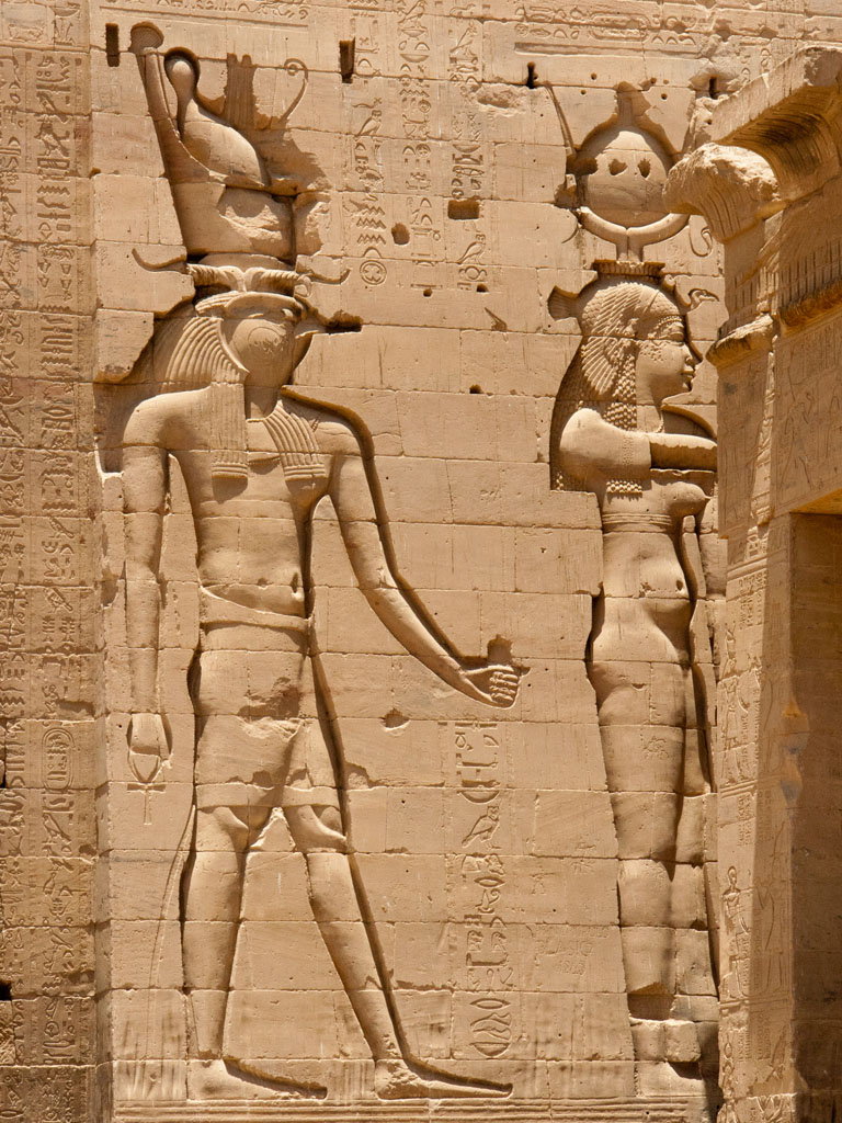 egypt-philae-j-horus-and-hathor-on-the-facade-of-the-first-pylon Top 10 Most Famous Ancient Egyptian Goddesses in the Pharaohs History