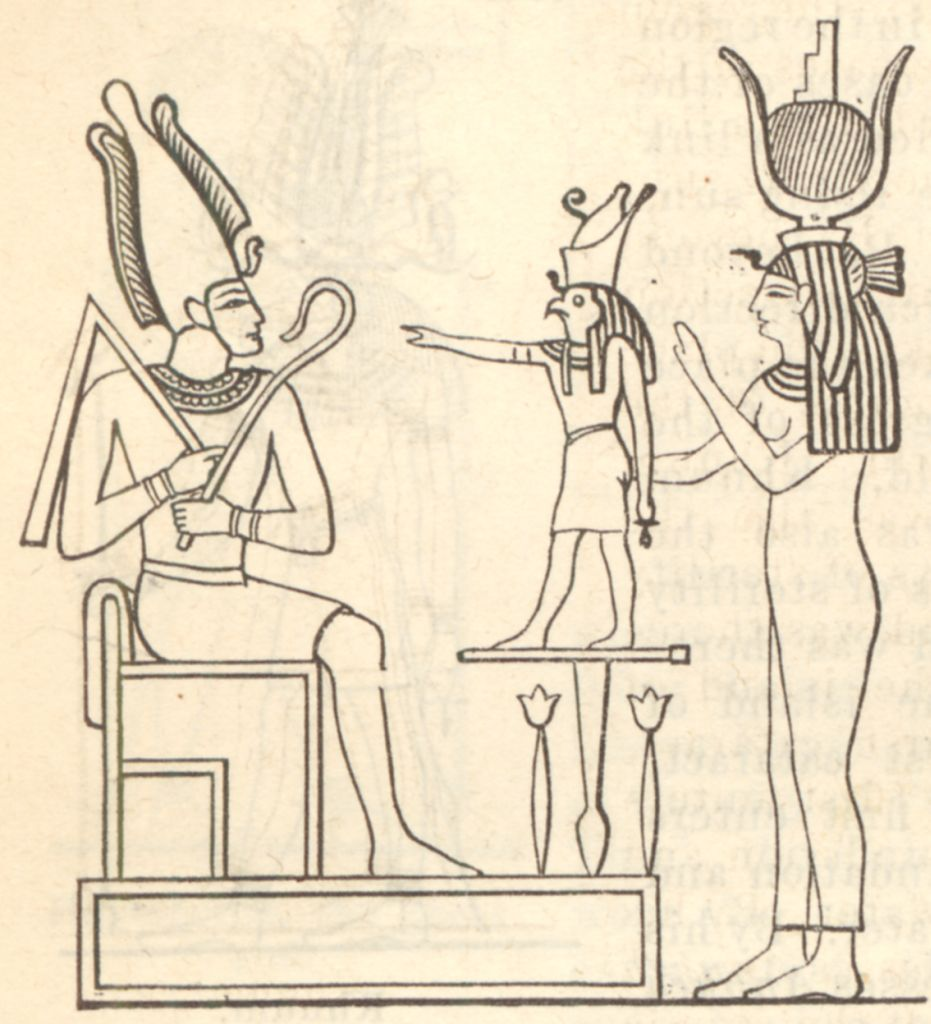 the_mythological_trinity_or_triad_osiris_horus_isis Top 10 Most Famous Ancient Egyptian Goddesses in the Pharaohs History