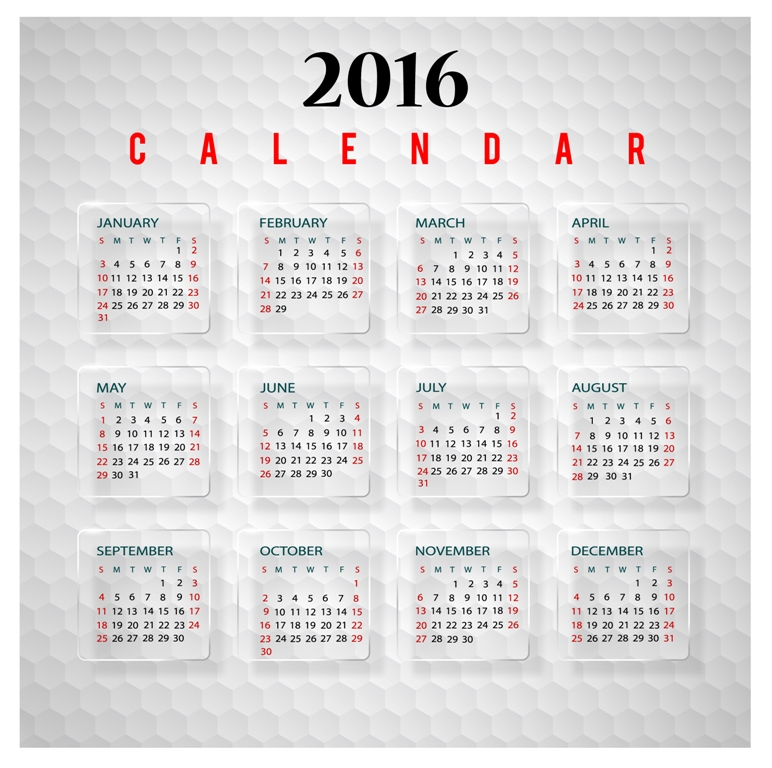 calendar-2016-1 64 Breathtaking 2016 Printable Calendar Templates