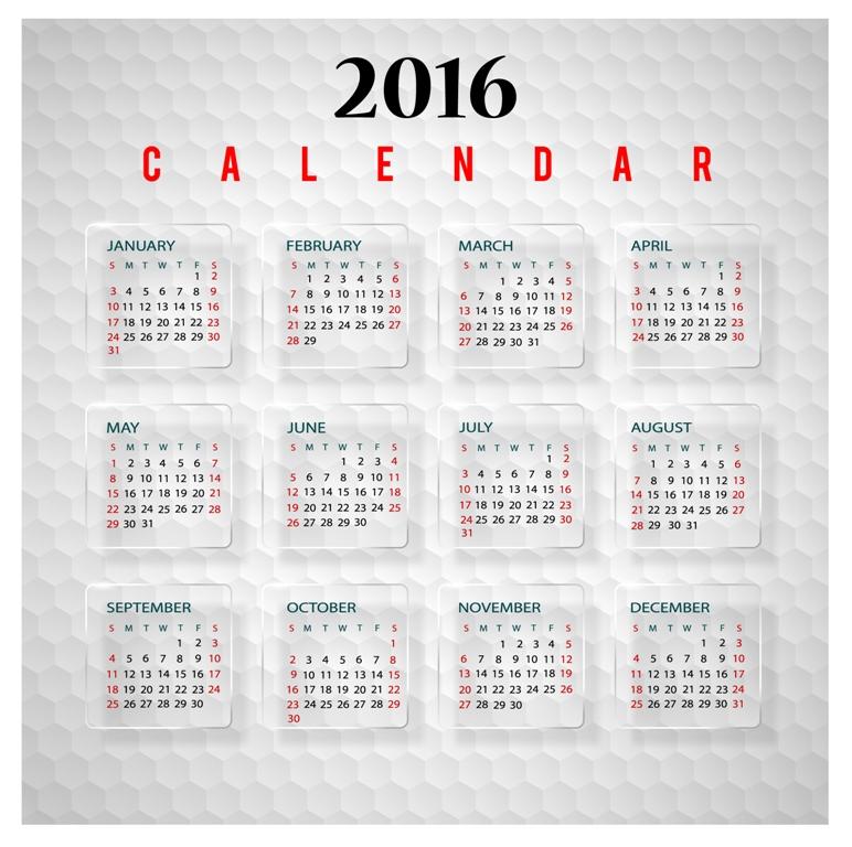calendar-2016-1 64 Breathtaking 2018 Printable Calendar Templates