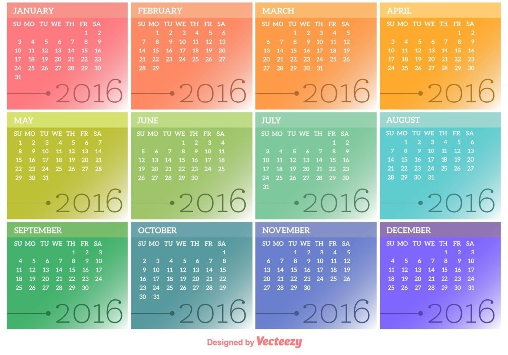calendar-2016-14 64 Breathtaking 2018 Printable Calendar Templates