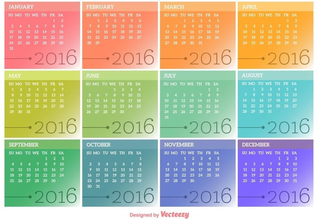 calendar-2016-14 64 Breathtaking 2018 Printable Calendar Templates