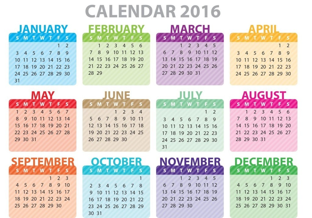 calendar-2016-15 64 Breathtaking 2018 Printable Calendar Templates
