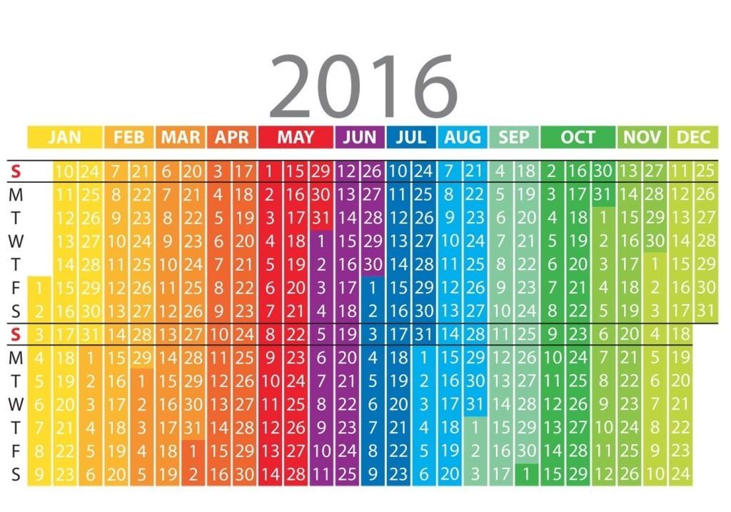 calendar-2016-19 64 Breathtaking 2018 Printable Calendar Templates