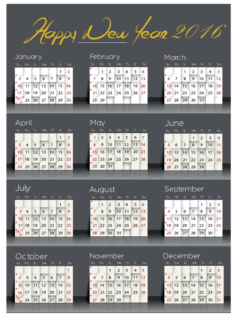 calendar-2016-2 64 Breathtaking 2018 Printable Calendar Templates