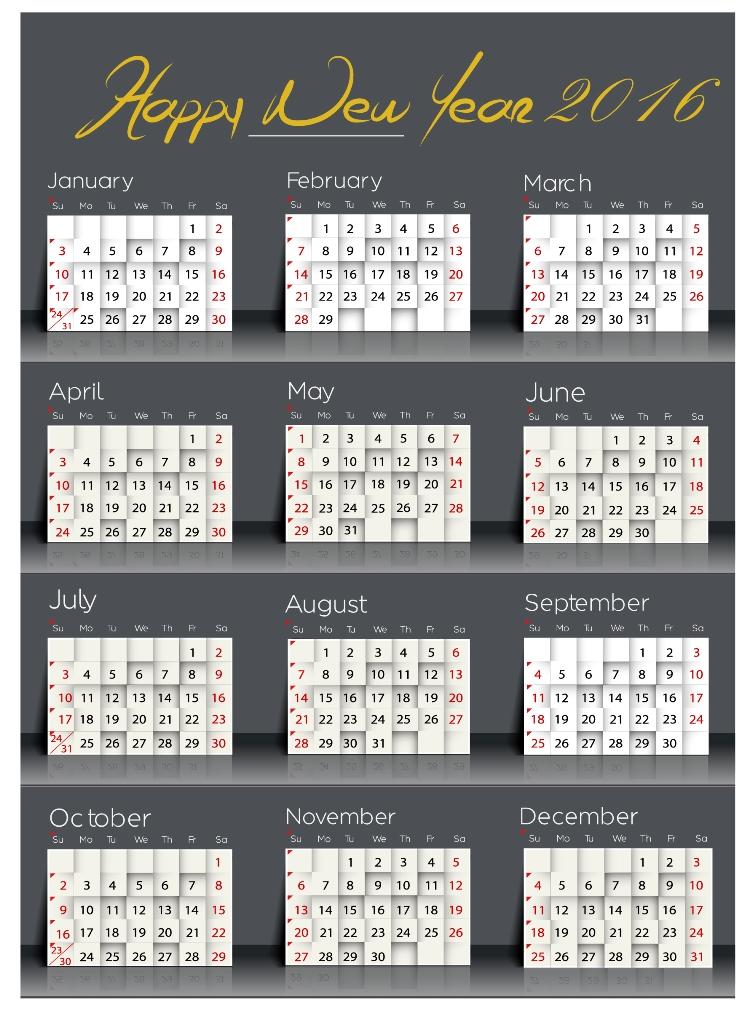 calendar-2016-2 64 Breathtaking 2018 Printable Calendar Templates