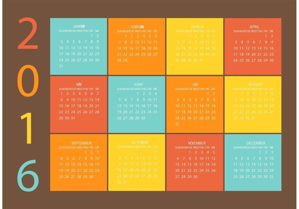 calendar-2016-20 64 Breathtaking 2018 Printable Calendar Templates