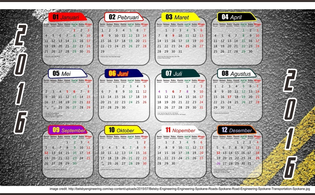 calendar-2016-21 64 Breathtaking 2016 Printable Calendar Templates