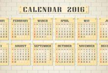 Photo of 64 Breathtaking 2018 Printable Calendar Templates