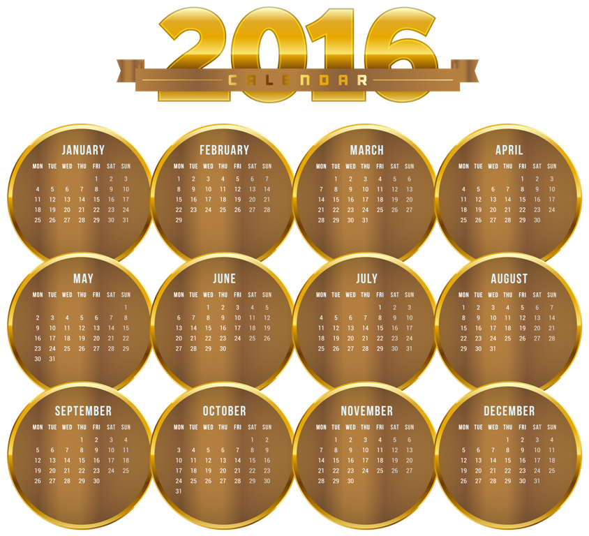 calendar-2016-28 64 Breathtaking 2016 Printable Calendar Templates