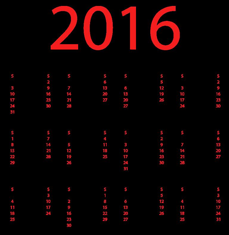 calendar-2016-29 64 Breathtaking 2018 Printable Calendar Templates