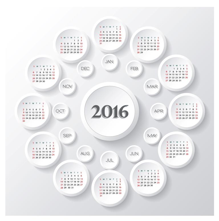 calendar-2016-3 64 Breathtaking 2018 Printable Calendar Templates
