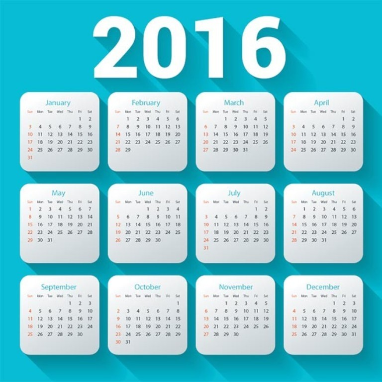 calendar-2016-30 64 Breathtaking 2016 Printable Calendar Templates