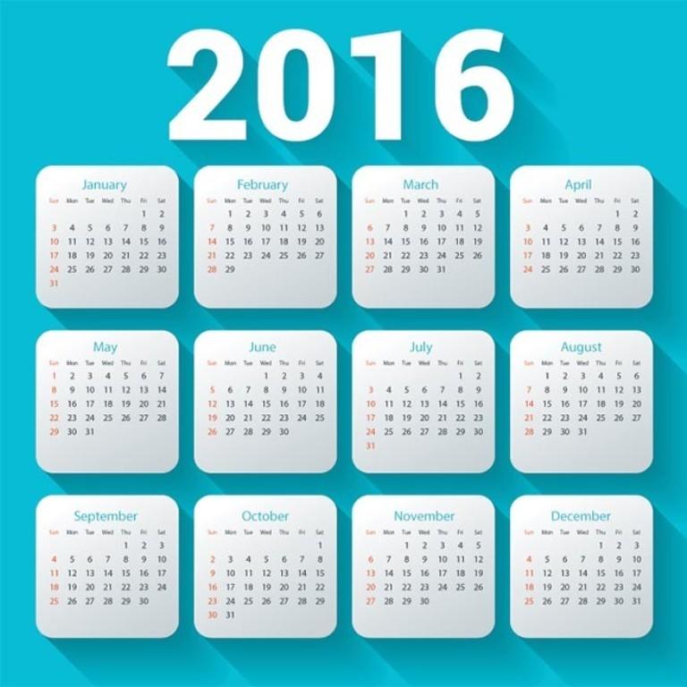 calendar-2016-30 64 Breathtaking 2018 Printable Calendar Templates