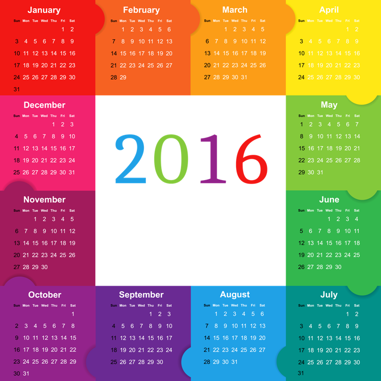 calendar-2016-32 64 Breathtaking 2016 Printable Calendar Templates