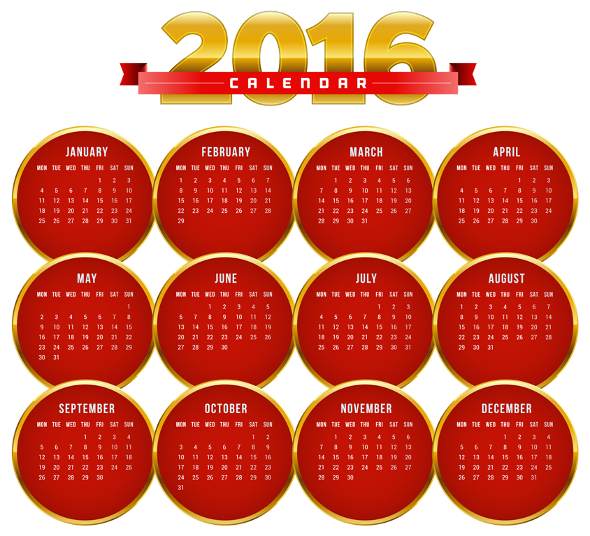 calendar-2016-33 64 Breathtaking 2016 Printable Calendar Templates