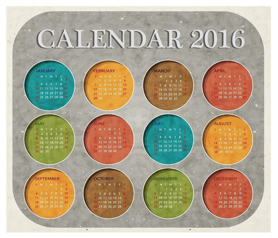 calendar-2016-34 64 Breathtaking 2016 Printable Calendar Templates