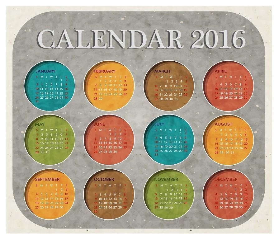 calendar-2016-34 64 Breathtaking 2018 Printable Calendar Templates