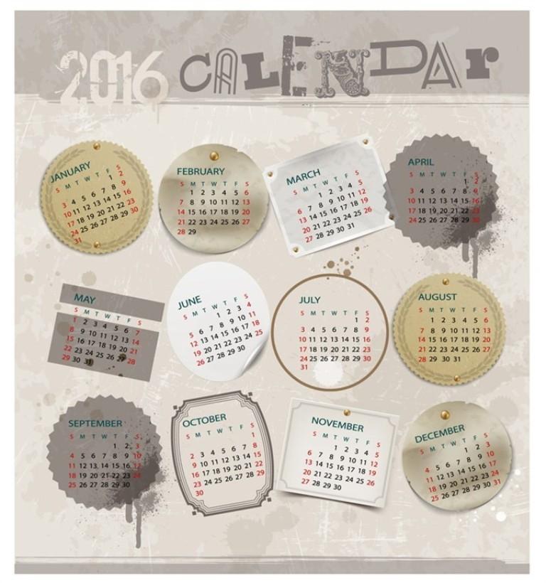 calendar-2016-35 64 Breathtaking 2018 Printable Calendar Templates