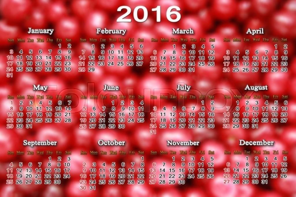 calendar-2016-37 64 Breathtaking 2018 Printable Calendar Templates