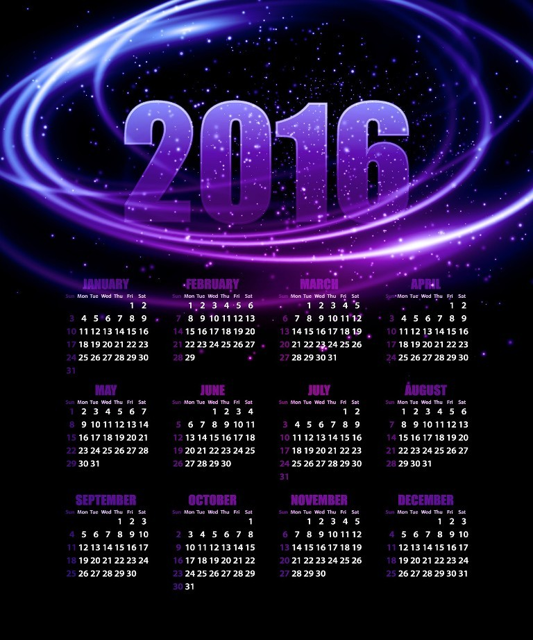 calendar-2016-38 64 Breathtaking 2016 Printable Calendar Templates