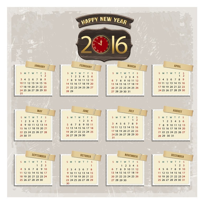 calendar-2016-39 64 Breathtaking 2016 Printable Calendar Templates