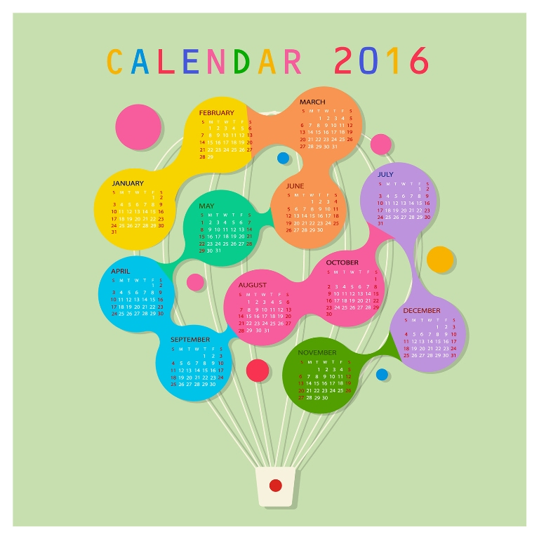 calendar-2016-4 64 Breathtaking 2016 Printable Calendar Templates