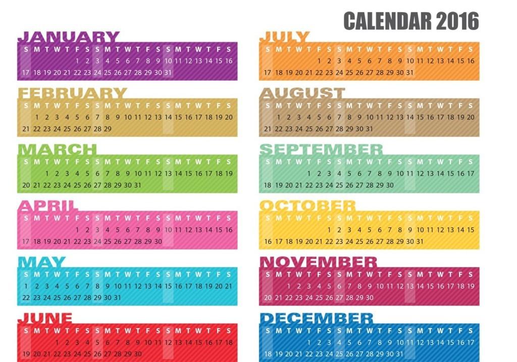 calendar-2016-41 64 Breathtaking 2018 Printable Calendar Templates