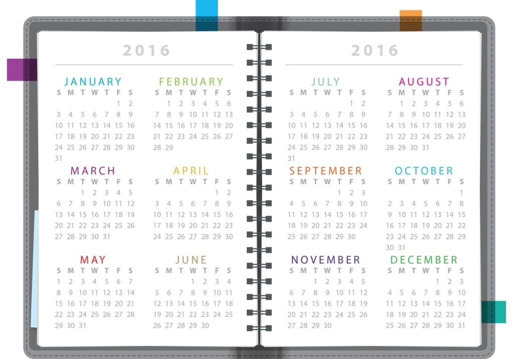 calendar-2016-42 64 Breathtaking 2018 Printable Calendar Templates