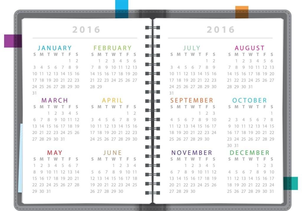 calendar-2016-42 64 Breathtaking 2018 Printable Calendar Templates