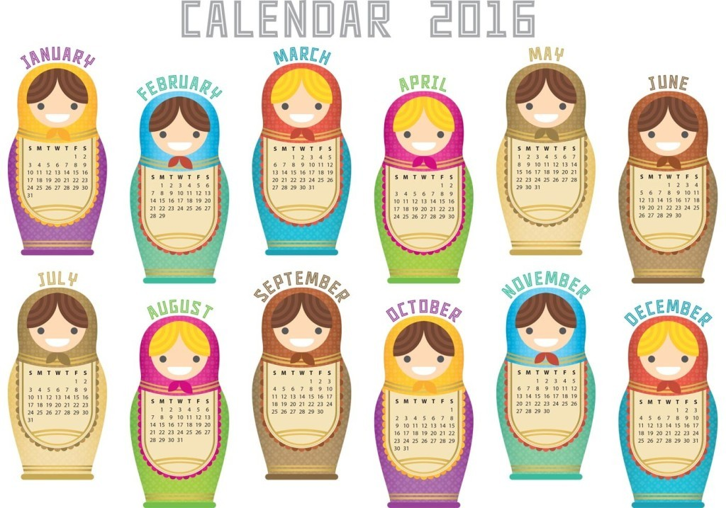calendar-2016-44 64 Breathtaking 2018 Printable Calendar Templates