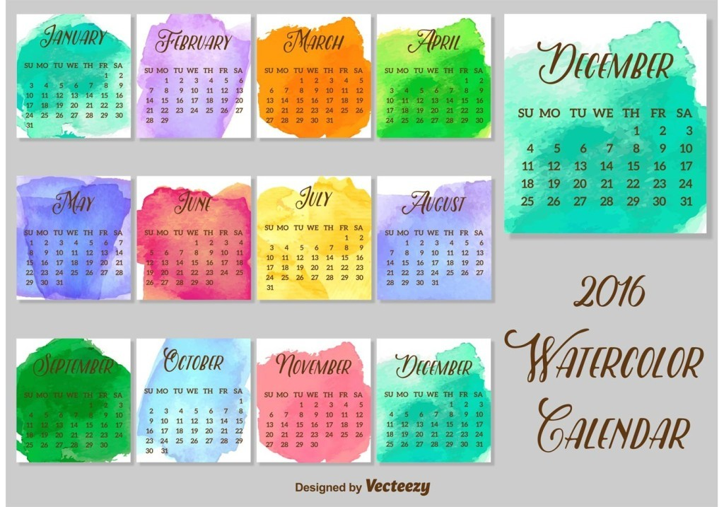 calendar-2016-45 64 Breathtaking 2016 Printable Calendar Templates