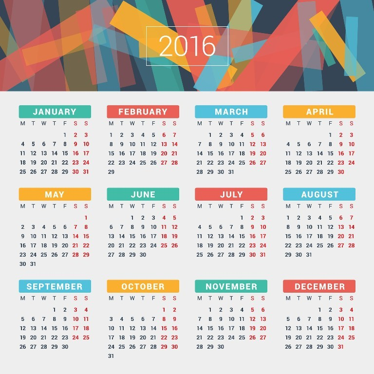 calendar-2016-48 64 Breathtaking 2016 Printable Calendar Templates