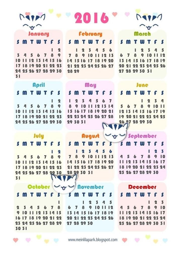 calendar-2016-49 64 Breathtaking 2018 Printable Calendar Templates