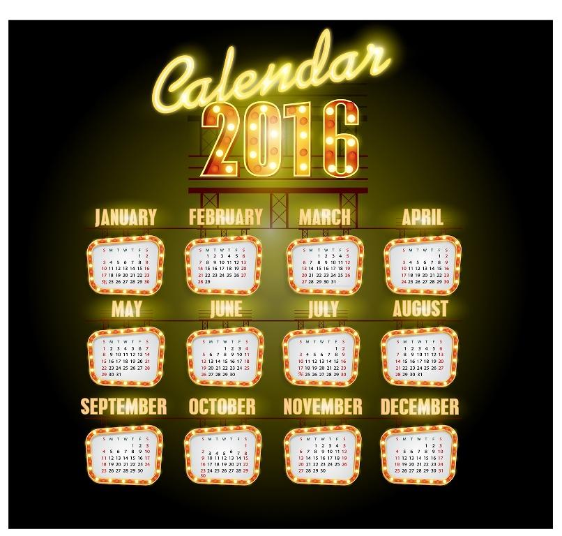 calendar-2016-5 64 Breathtaking 2018 Printable Calendar Templates