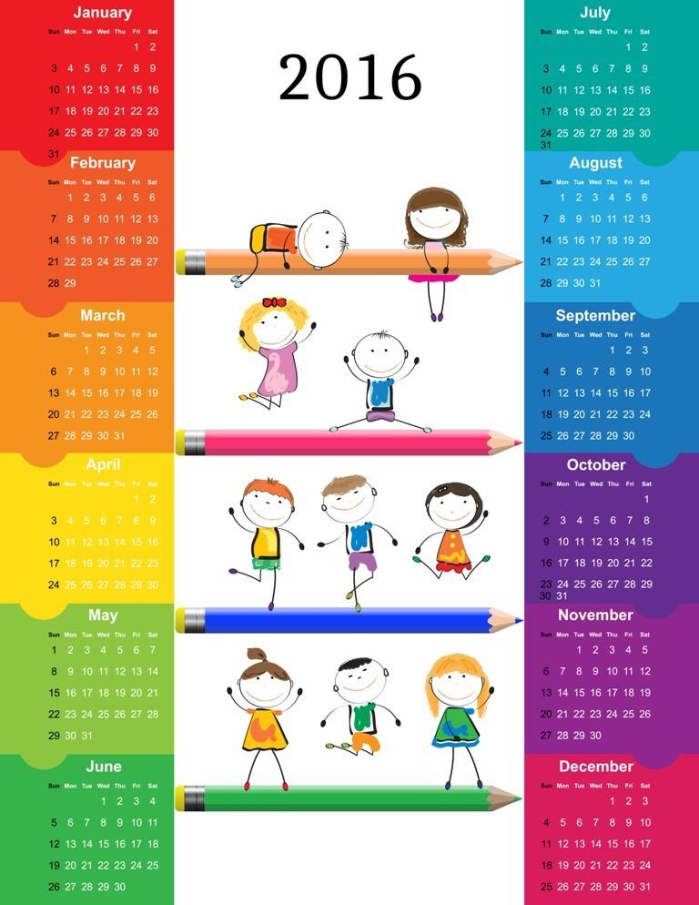 calendar-2016-50 64 Breathtaking 2018 Printable Calendar Templates