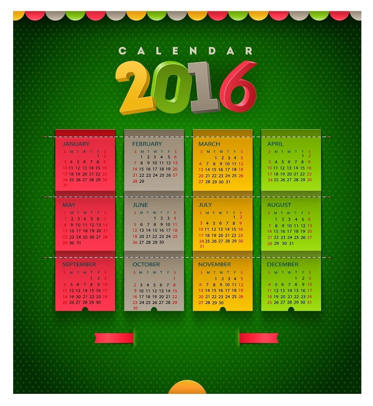 calendar-2016-6 64 Breathtaking 2016 Printable Calendar Templates