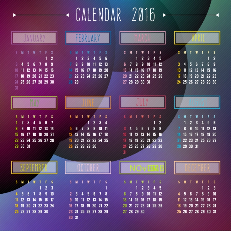 calendar-2016-8 64 Breathtaking 2018 Printable Calendar Templates