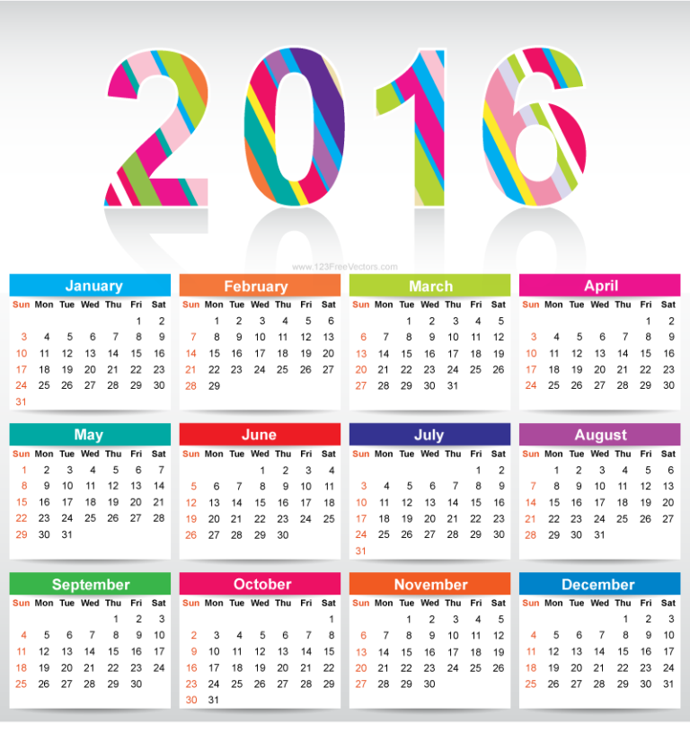 calendar-2016-9 64 Breathtaking 2016 Printable Calendar Templates
